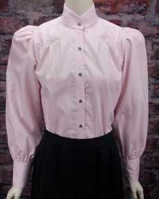 Frontier Classics Pioneer Blouse - Pink Stripe - Ladies' Old West Blouses | Spur Western Wear