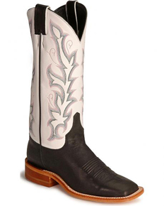 Justin Bent Rail Albany Western Boot - Black - Ladies' Western Boots | Spur Western Wear