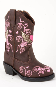 Roper Infants' Winged Heart Cowgirl Boots