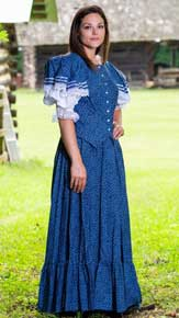 Frontier Classics Emily Ensemble - Navy - Ladies' Old West Ensembles | Spur Western Wear