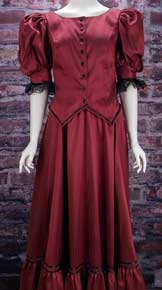Frontier Classics Red Antique Satin Ensemble