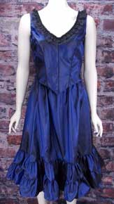 Frontier Classics Saloon Girl Ensemble - Sapphire Blue - Ladies' Old West Ensembles | Spur Western Wear