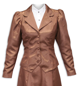 Wah Maker Moire Outing Jacket - Chocolate - Ladies' Old West Vests And Jackets | Spur Western Wear