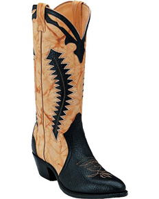 Boulet Shoulder Triad Cowboy Boot - Med Round Toe - Black - Men's Western Boots | Spur Western Wear