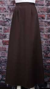 Frontier Classics Cotton Twill Walking Skirt - Chocolate - Ladies' Old West Skirts and Dresses | Spur Western Wear