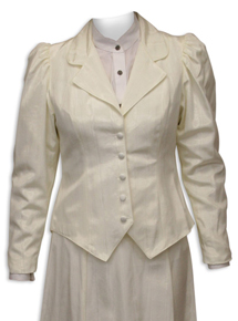 Wah Maker Moire Outing Jacket - Ivory - Ladies' Old West Vests And Jackets | Spur Western Wear