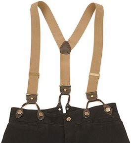 Scully Suspenders - Tan