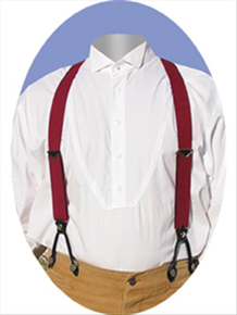 Scully Suspenders - Burgundy