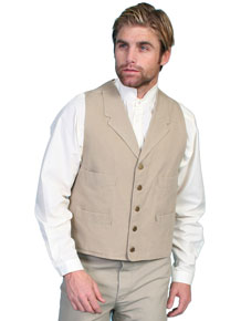 "Scully Canvas ""Duckins"" Vest – Sand"
