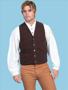 "Scully Canvas ""Duckins"" Vest – Walnut"