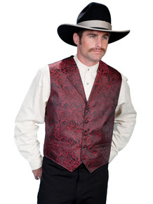 Scully Dragon Vest – Red - Men's Western Vests and Jackets | Spur Western Wear