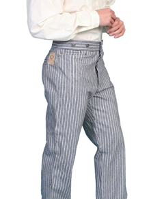 Wah Maker Rail Stripe Pant - Black - Men's Old West Pants | Spur Western Wear