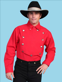 Scully Bib Front Shirt – Red – Big & Tall