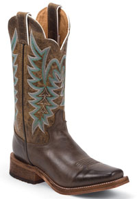 Justin Bent Rail Guthrie Western Boot - Chocolate -  Ladies' Western Boots | Spur Western Wear