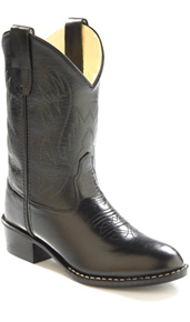 Jama Old West Black Cowboy Boot - Kids' - Kids' Western Boots | Spur Western Wear
