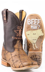 Tin Haul Bob Wire Western Boot - Brown - Men's Western Boots | Spur Western Wear