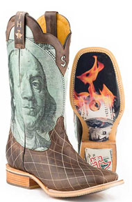 Tin Haul Money To Burn Western Boot - Brown - Men's Western Boots | Spur Western Wear