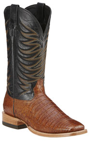 Ariat Fire Catcher Caiman Belly Western Boots - Tan