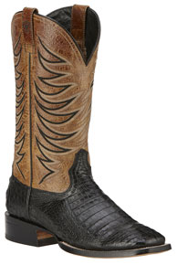 Ariat Fire Catcher Caiman Belly Western Boots - Black