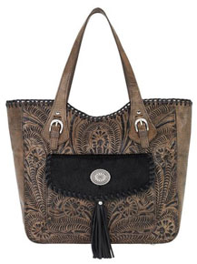 American West Annie's Secret Concealed Carry Shoulder Bag - Charcoal Brown - Ladies' Western Handbags And Wallets | Spur Western Wear
