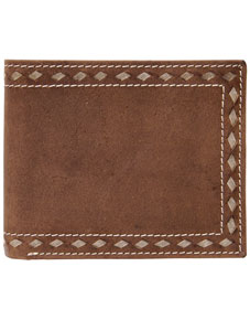 3D Buckstitch Western Bifold Wallet - Distressed Brown - Western Wallets | Spur Western Wear