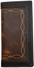 3D Western Rodeo Wallet - Brown & Dark Brown - Western Wallets | Spur Western Wear