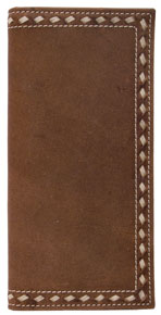 3D Buckstitch Western Rodeo Wallet - Distressed Brown - Western Wallets | Spur Western Wear