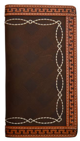 3D Brown & Natural Western Rodeo Wallet