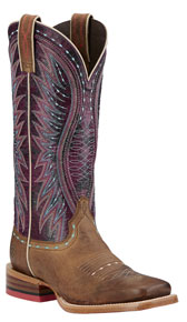 Ariat<sup>®</sup> Vaquera Western Boot - Khaki/Sunset Purple - Ladies' Western Boots | Spur Western Wear