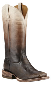 Ariat Ombre Lizard Print Western Boots - Chocolate - Ladies
