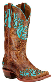 Ariat Dusty Rose Western Boots - Saddle Tan - Ladies