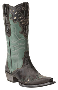 Ariat<sup>®</sup> Zealous Western Boot - Barnwood/Teal Green - Ladies' Western Boots | Spur Western Wear