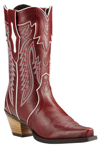 Ariat Calamity Western Boots -  Lipstick Red - Ladies