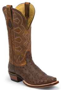 Nocona Houlihan Full Quill Ostrich Western Boot - Cognac - Men's Western Boots | Spur Western Wear