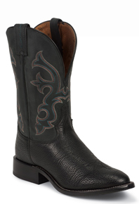 Tony Lama Crowell Conqistador Shoulder Western Boot - Black - Men's Western Boots | Spur Western Wear