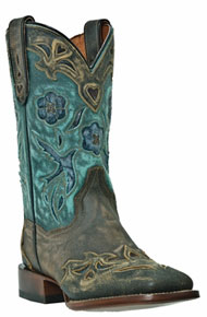 Dan Post Blue Bird CC Western Boots - Copper & Turquoise - Ladies' Western Boots | Spur Western Wear