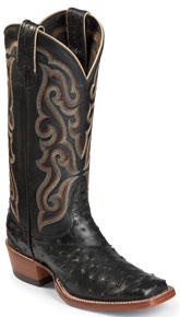 Nocona Carolina Full Quill Ostrich Western Boot - Black - Ladies' Western Boots | Spur Western Wear