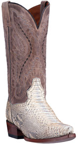 Dan Post Orlando Python Western Boot - Natural - Men's Western Boots | Spur Western Wear