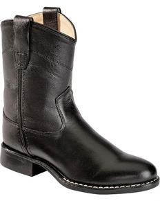 Jama Old West Roper Western Boot - Black - Youth - Kids' Western Boots | Spur Western Wear