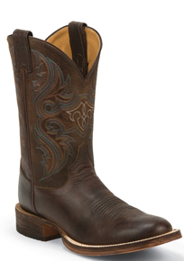 Justin Bent Rail Lahoma Western Boot - Brown - Men's Western Boots | Spur Western Wear