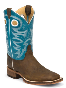 Justin Bent Rail Caddo Western Boot - Blue - Men's Western Boots | Spur Western Wear