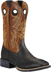 Ariat Heritage Cowhorse Western Boot - Black - Men's Western Boots | Spur Western Wear