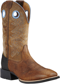 Ariat® Heritage Cowhorse Western Boot - Bar Top Brown/Woodsmoke - Men's Western Boots | Spur Western Wear