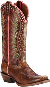 Ariat Derby Western Boot - Brown - Ladies' Western Boots | Spur Western Wear