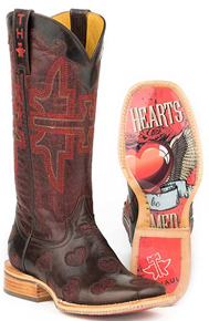 Tin Haul Hearts Western Boot - Brown - Ladies' Western Boots | Spur Western Wear