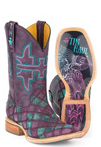 Tin Haul Chevron Western Boot - Multicolored - Ladies' Western Boots | Spur Western Wear