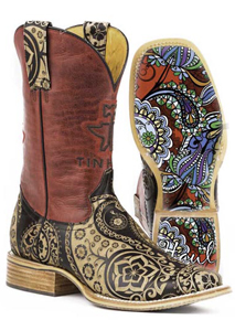 Tin Haul Paisley Western Boot - Tan - Ladies' Western Boots | Spur Western Wear