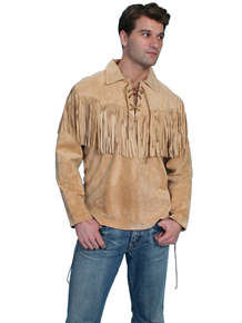 Scully Boar Suede Leather Shirt - Bourbon - Men's Old West Shirts | Spur Western Wear