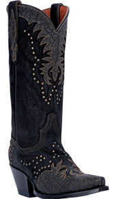 Dan Post Invy Western Boots - Black - Ladies' Western Boots | Spur Western Wear