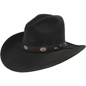 Bailey 2X Black Tombstone Cowboy Hat